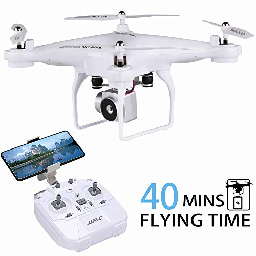 40MINS Flight Time Drone, JJRC H68 RC Quadcopter with 720P HD Camera (Removable) FPV Quadcopter with Headless Mode,Altitude Hold,2Batteries(20mins + 20mins)