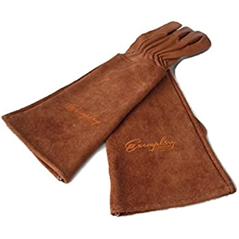 Wonderful Rose Pruning Gloves For Men And Women. Thorn Proof Goatskin Leather Gardening  Gloves With Long
