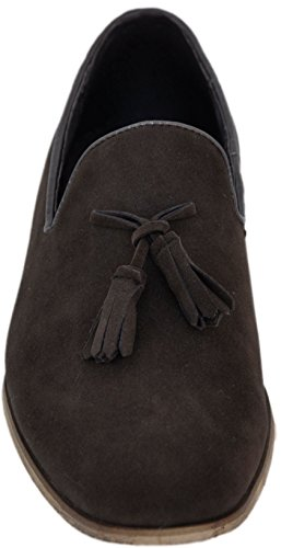 Galax zapatos de hombre , mocasines de cuero forro interior mocasines hombre Brown