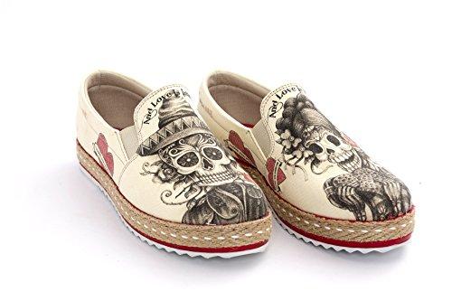 Goby Sugar Skull Printed Slip-On Sneaker sBdDW