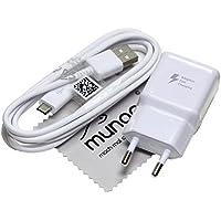Chargeur Flash rapide pour d'origine Samsung 2A + 1,5 m câble de charge de données USB pour Samsung Galaxy S7 Edge (G935F) + GRATIS mungoo® Écran Chiffon
