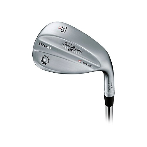 Titleist Vokey SM6 Tour Chrome Wedge Right 58 12 K Grind True Temper Dynamic Gold Wedge by Titleist