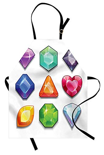 T&H Home Diamonds Apron, Cartoon Style Graphic Gemstone for sale  Delivered anywhere in USA
