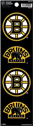 Large Helmet Logo Car Magnet - Rico Industries NHL Boston Bruins Die Cut 4-Piece The Quad Sticker Sheet