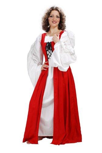 Armor Venue - Fair Maiden's Dress - Renaissance Gown Costume - Red L (Fair Maiden Renaissance Costume)