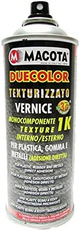 Macota Duecolor Spray Paint For Plastic And Rubber Textured Black Auto