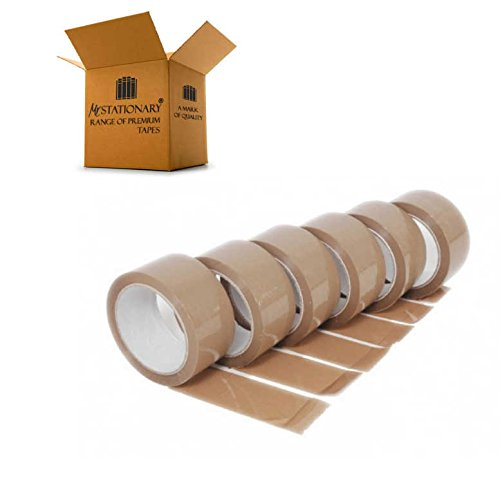 48mm Wide x 66m Long Reliability GUARANTEED Refill Dispenser Mr Stationary/® Shipping Ideal for Packing Craft and Sealing Boxes Ultra PREMIUM Quality Heavy Duty Tape Provides Strong Secure Seal 12 Rolls of BROWN STRONG STICKY Parcel Tape