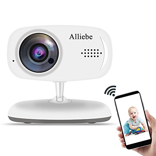 Alliebe Wireless Baby Monitor Smart WiFi 2.4G Baby Camera with Night Vision Support Storage and 2-Way Voice Motion Detection Compatible iOS and Android Smartphone or Tablet
