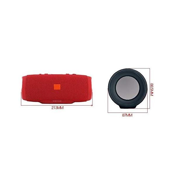 Haut-Parleur Portable Bluetooth étanche Voyage en Plein airRouge sans Fil Audio 213mmx87mm de Subwoofer de Haut-Parleur de Bluetooth de Tissu 2