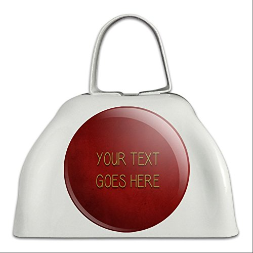Graphics and More Personalized Custom Red Textured Background Any Occasion White Cowbell Cow Bell]()