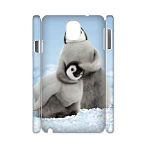 FLYBAI Penguin Parents Love Phone 3D Case For Samsung Galaxy note 3 N9000 [Pattern-3]