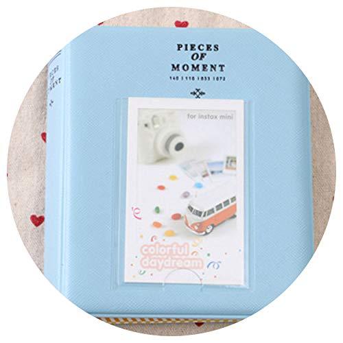 (Photo Albums 64 Pockets Mini Family Photo Album Gallery for Instant Camera Photos,Blue )