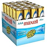 Maxell 723849 Alkaline Battery AAA Cell 20-Pack