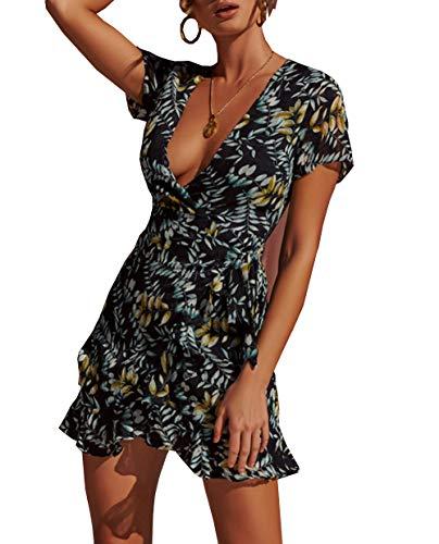 Camisole Mini Dress - PRETTYGARDEN Women's Summer Deep V