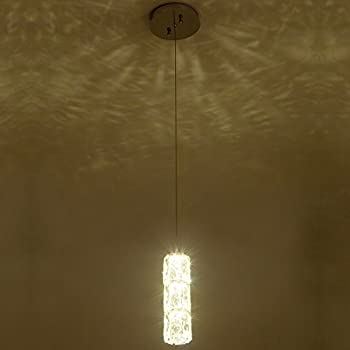 Crystal pendant light modern one lights chandeliers hanging ceiling crystal pendant light modern one lights chandeliers hanging ceiling light fixture with adjustable hanging height and aloadofball Image collections