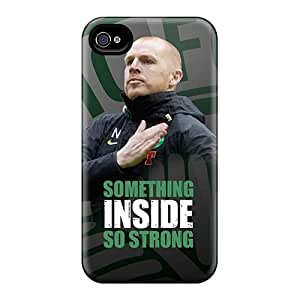 Fashion Tpu Case For Iphone 4/4s- Neil Lennon Strong Defender Case Cover
