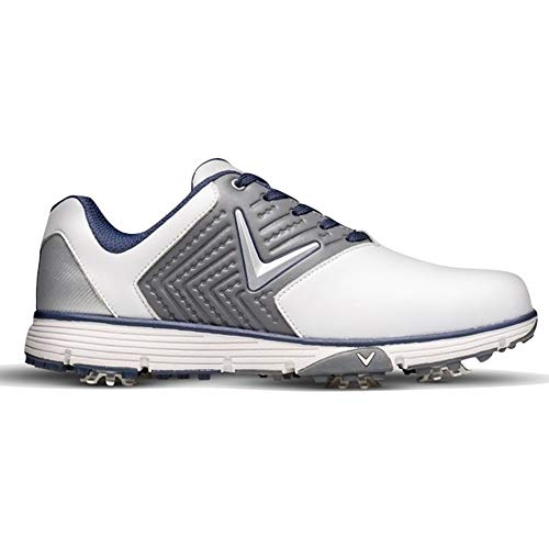 Callaway Men's Chev Mulligan S Waterproof Lightweights Golf Shoes, White/Grey, 9 (43 EU)