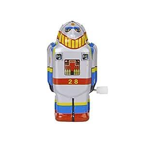 Ms Viento Vintage Estano Robot De Juguete Hasta 493