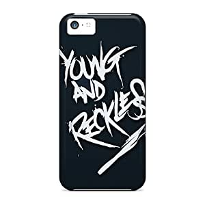 Protective Hard Phone Cover For Apple Iphone 5c (cLf5352clIY) Unique Design Fashion Young And Reckless Pattern