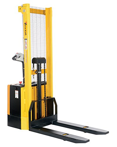 Vestil-S-62-FF-Powered-Drive-and-Powered-Lift-Stacker-with-Fixed-Forks-Over-Fixed-Support-Legs-3-38-62-Height-Range-42-Length-x-26-34-Width-Fork-2000-lbs-Capacity