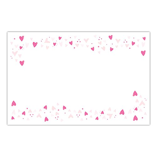 DB Party Studio Paper Placemats Joyful Pink Hearts 25 Pack Disposable Dining Place Setting Mats Bridal Baby Girl Shower Quinceañera Sweet Sixteen Birthday Party Table Supplies & Decorations 17