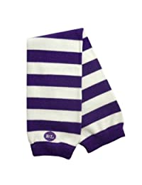 BabyLegs Unisex-Baby Infant Printed Sports And School Leg Warmers, Purple/White, One Size