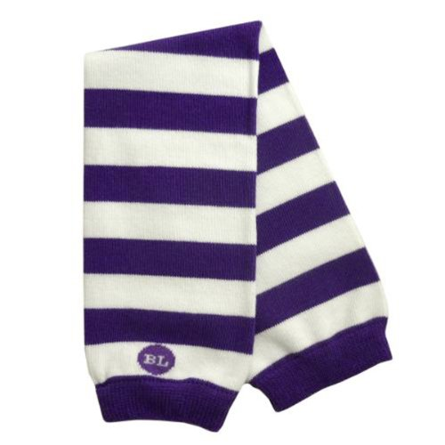 BabyLegs Baby Printed Sports and School Leg Warmers, Purple/White, OSFM