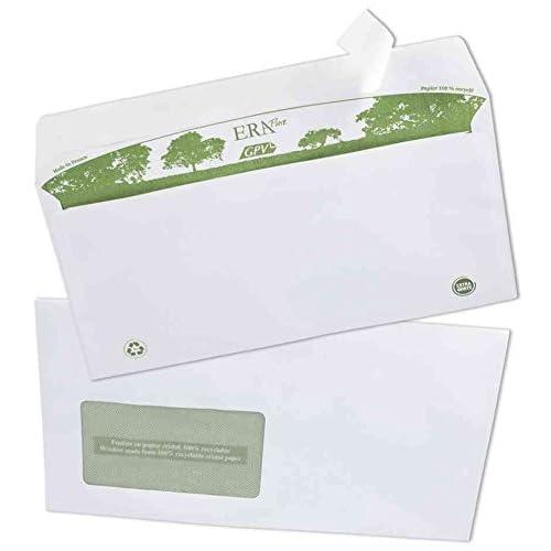 Lot de 25 enveloppes blanches A5 format 162 X 229 mm avec fenêtres 45x100mm C5