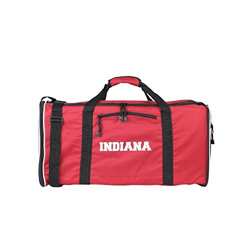 - NCAA Indiana Hoosiers Steal Duffel Bag, 28-Inch, Red