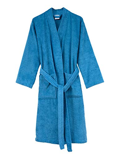 - TowelSelections Men's Robe, Turkish Cotton Terry Kimono Bathrobe X-Large/XX-Large Heritage Blue