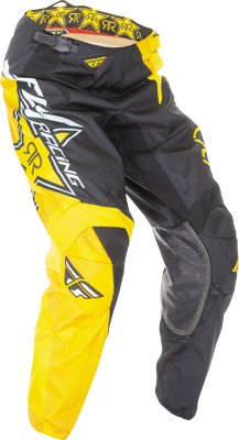Fly Racing Unisex-Adult Kinetic Rockstar Pants (Yellow/Black, Size 30) by Fly Racing