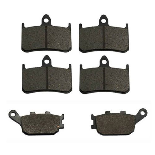 Volar Front /& Rear Brake Pads for 1998-2005 Honda Super Hawk 1000 VTR1000F