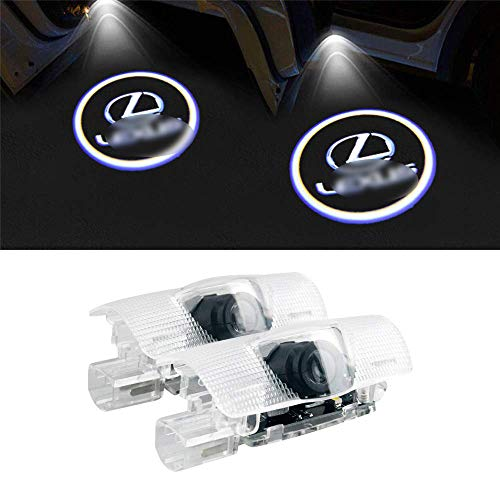 Door Step Welcome Light Shadow Projector,Plug and Play,2 Pack HSUN LED Courtesy Lamp with Logo for Au-Di