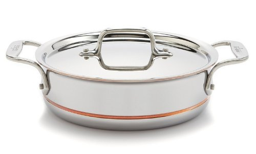 All-Clad Copper Core 64023 2-Quart Saute Pan with Lid & Loop Handles