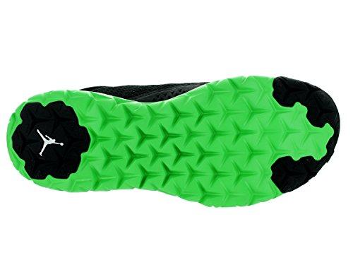 Nike Jordan Flight Flex Trainer Black/White/Green spark negro - Schwarz / Weiß / Grün