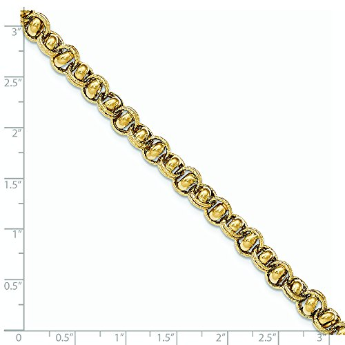 Poli or 14ct Fancy-Bracelet Lien ovale-20cm