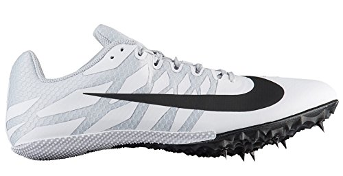 Nike Men's Zoom Rival S 9 Track and Field Shoes (13, White/Black)