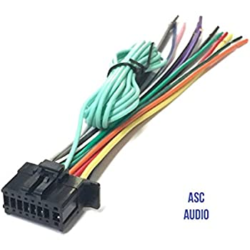 ASC Car Stereo Power Speaker Wire Harness Plug for Pioneer / Premier Aftermarket DVD Nav Radio DEH-X6700BT DEH-X4700BT DEH-X2700UI DEH-X5700HD AVH4100NEX ...