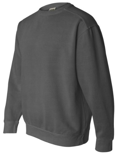 (Comfort Colors Pigment-Dyed Crewneck Sweatshirt, M, Pepper)
