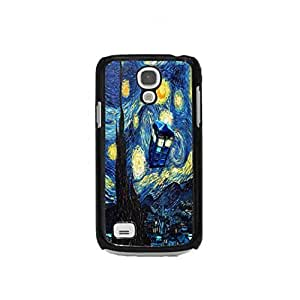 Starry Night TardisFor Case Samsung Galaxy S4 I9500 Cover Plastic Cell Phone