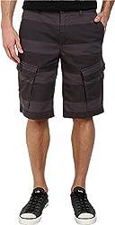 DKNY Jeans Men's Horizontal Stripe Canvas Shorts Black Shorts 29 X 12