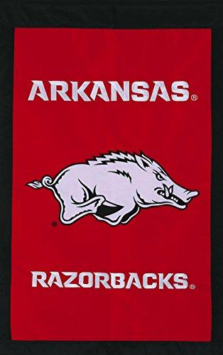 Arkansas Razorbacks Official NCAA 28 inch x 44 inch Applique House Flag by Evergreen Arkansas Razorbacks Ncaa Applique