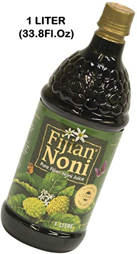 Fijian Noni® Juice 100% Pure CERTIFIED ORGANIC Rich in Antioxidants. Deal of the day! (Single 1 Liter Bottle) 33.8Fl.Oz A GIFT OF NATURE.