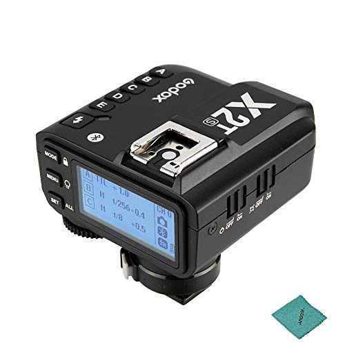 Godox X2T-S TTL Wireless Trigger Flash 2.4G 1/8000s HSS TTL-Convert-Manual Function for Canon 1/8000s, Sony Cameras with Andoer Cleaning Cloth
