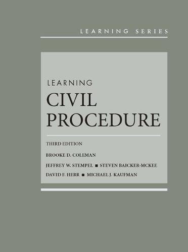 Learning Civil Procedure (Learning Series)