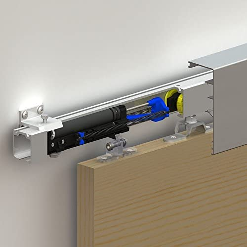 170 190 Damper with soft close mechanism for sliding door systems SLIDUP 160 Door up to 220lbs