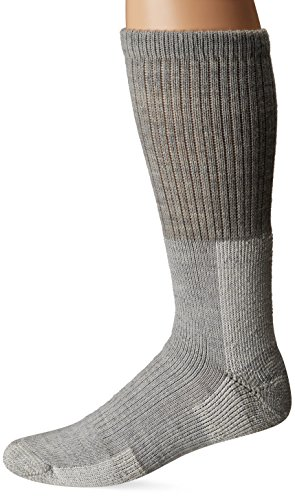 Thorlos Unisex TKX Trekking Thick Padded Crew Sock, Grey, Large