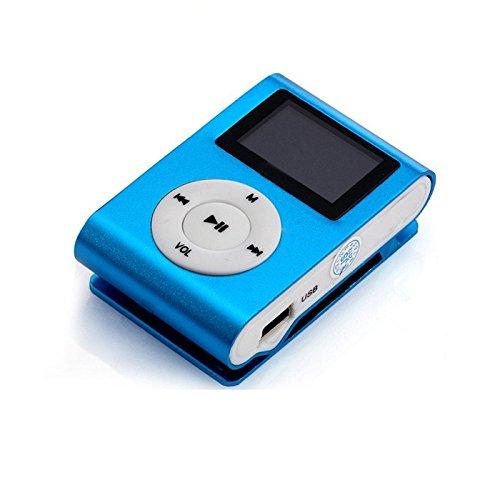Mandy Mini USB Clip MP3 Player Support 32GB Micro SD TF Card Blue