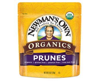Newman's Own Organic Pitted Prunes Bag 6 oz. (Case of 12) by Newman's Own