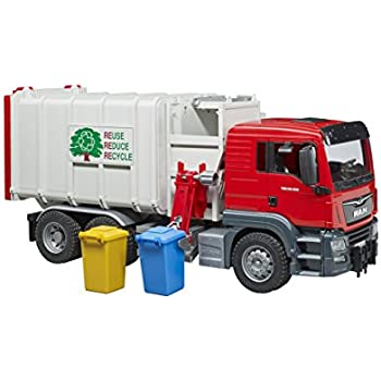 Amazon Com Bruder 02812 Mack Granite Rear Loading Garbage